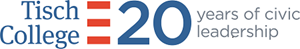 Tisch College 20th anniversary logo