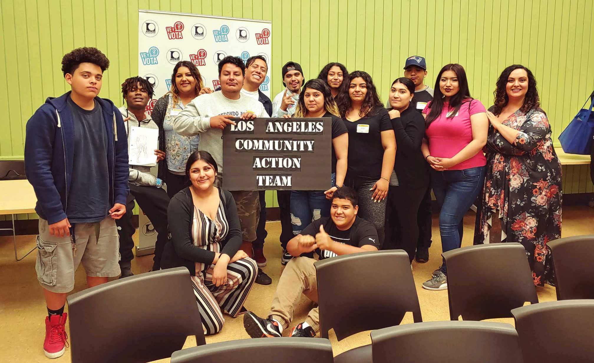 Group photo of the Los Angeles youth team